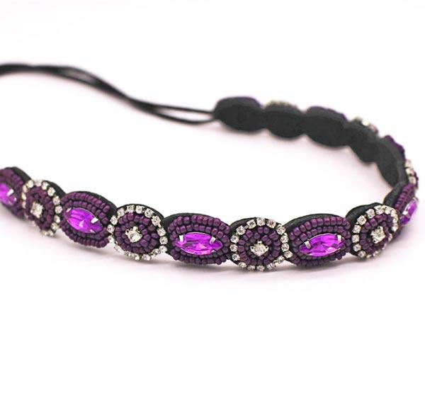haarbandje glam purple