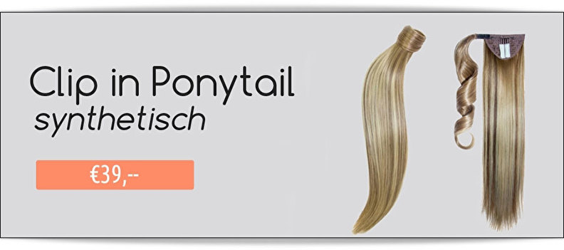 Clip in extensions pony tail synthetisch