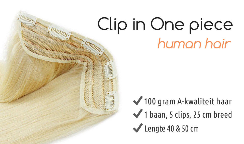 Clip in extension one piece