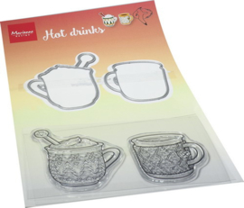 HT1666 - Hetty's Hot drinks (2 mallen + 2 stempels)