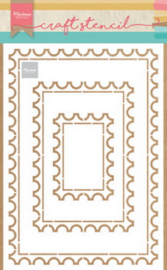 Craft stencil PS8034 - Post card