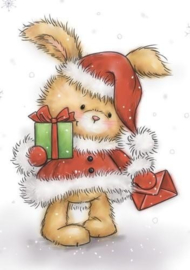 Wild Rose A7 stamps set Christmas Bunny CL511