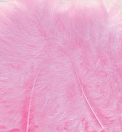 Marabou veertjes pink 2806