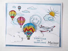 Clear stamp HT1634 Hetty's border Sky is the limit