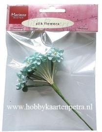 Silk flowers blauw JU0854