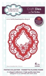 Craft Dies Poinsettia Filigree Frame CED3050