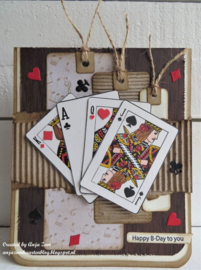 Craftables CR1509 Punch die Playing cards