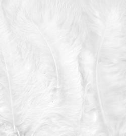 Marabou veertjes white 2802