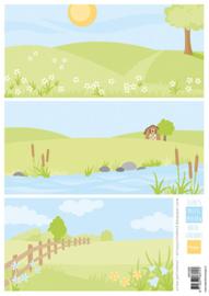 AK0086 - Eline's backgrounds pastel meadows