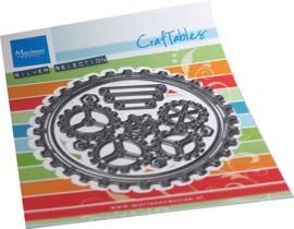Craftables CR1548  Gears doily
