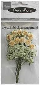 Roses Bunches green-off white RB2217