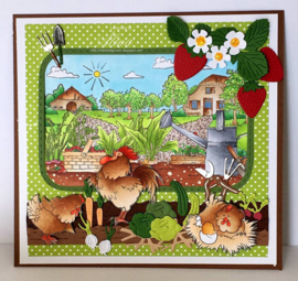 Craftables CR1393 Punch die Vegetable garden