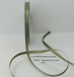 LB1020 Groen satijn lint de luxe 6mm