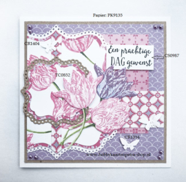 Layered stamps TC0852 tulp