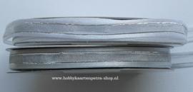 CG1009 organza/satijnlint met zilver draad 10mm
