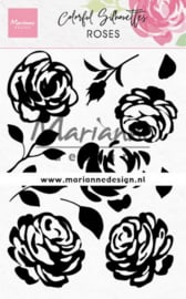 Clear stamps CS1046 - Colorful Silhouette - Roses
