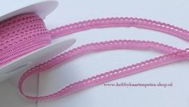 Artikel K1078 linnenkant Pink 9mm. 100% katoen