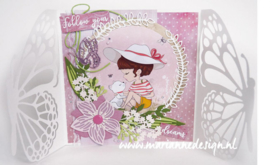 Craftables CR1496 Forget me not