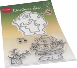 HT1658 - Hetty's Chrismas bear  (3 dies + 3 stamps)
