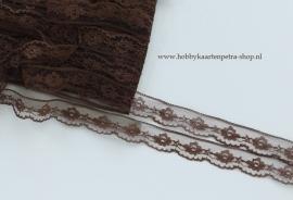 Artikel K1045 kant Nylon 22mm, bruin