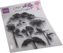CS1083 - Colorful Silhouette - Floral Beauty