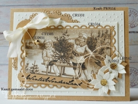 Card toppers sepia Vintage CT1503