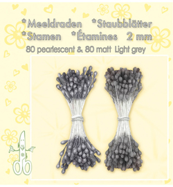 Meeldraden 80 Matt & 80 pearl Light Grey 26.4902