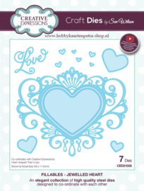 Craft Dies Jewelled Heart CED21005