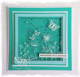 Clear stamps Noor - Condoleance - Kosmos bloemen 6410/0499