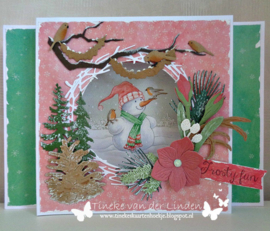 Craftables CR1419  Branch wreath - krans
