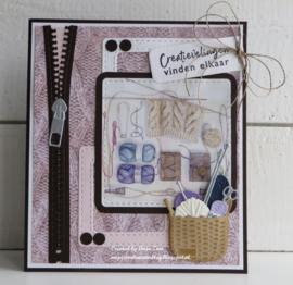 Clear stamps CS1071 Creatieve groetjes (NL)