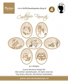 Card toppers sepia Els CT1504