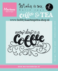 KJ1708 Karin Joan - stamps Every day is a coffee day