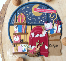 Craftables CR1526 Sinterklaas set by Marleen