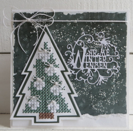 Craftables CR1481 cross stitch christmas tree