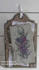 TC0872 Clear stamps - Tiny's Border – Bouquet