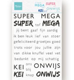 Clear stamps CS1066 Super-mega-kei-onwijs