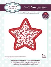 Craft Dies Poinsettia Star CED3093