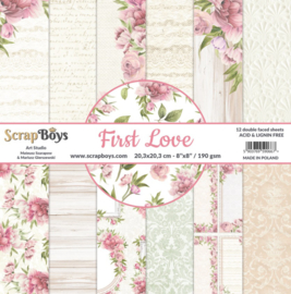 ScrapBoys paperpad First Love 20,3 x 20,3cm