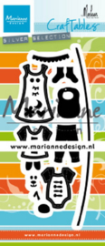 Craftables CR1502 - Clothesline by Marleen