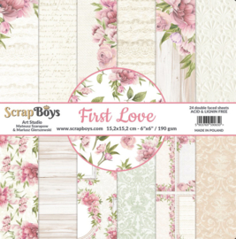 ScrapBoys paperpad First Love 15,2 x 15,2cm