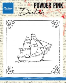 Clear stamp Powder Pink - Sailboat PP2806