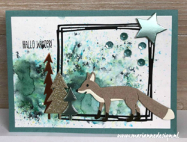 Craftables CR1484 fox by Marleen
