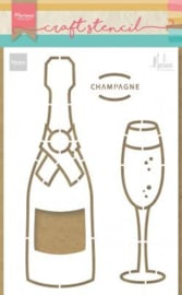 Craft stencil PS8051 Champagne   by Marleen