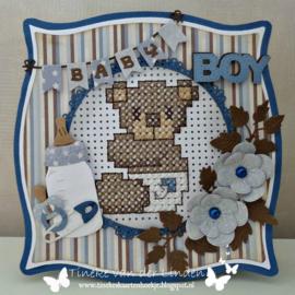 Creatables LR0576 Baby text boy & girl