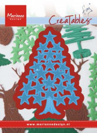 Creatables LR0490 Tiny's Christmas tree with stars
