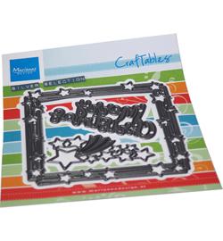 Craftables CR1557 - Square & stars