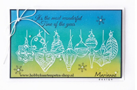 Clear stamps TC0868 Tiny's christmas baubles