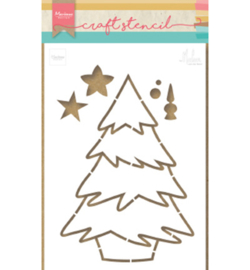 Craft stencil PS8046 - Christmas tree by Marleen
