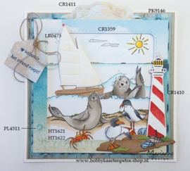 Clear stamps HT1622 Hetty's At the beach
